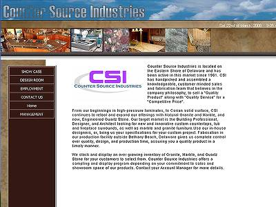 Web hosting customerCSI - Counter Source Industries